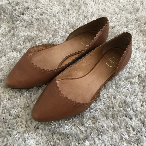82c0c8cea200 Jack Rogers Shoes | Brown Scalloped Chantel Ballet Flats 9 | Poshmark
